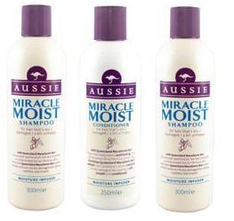 Aussie Miracle Moist Shampoo/Conditioner/Pflegeset